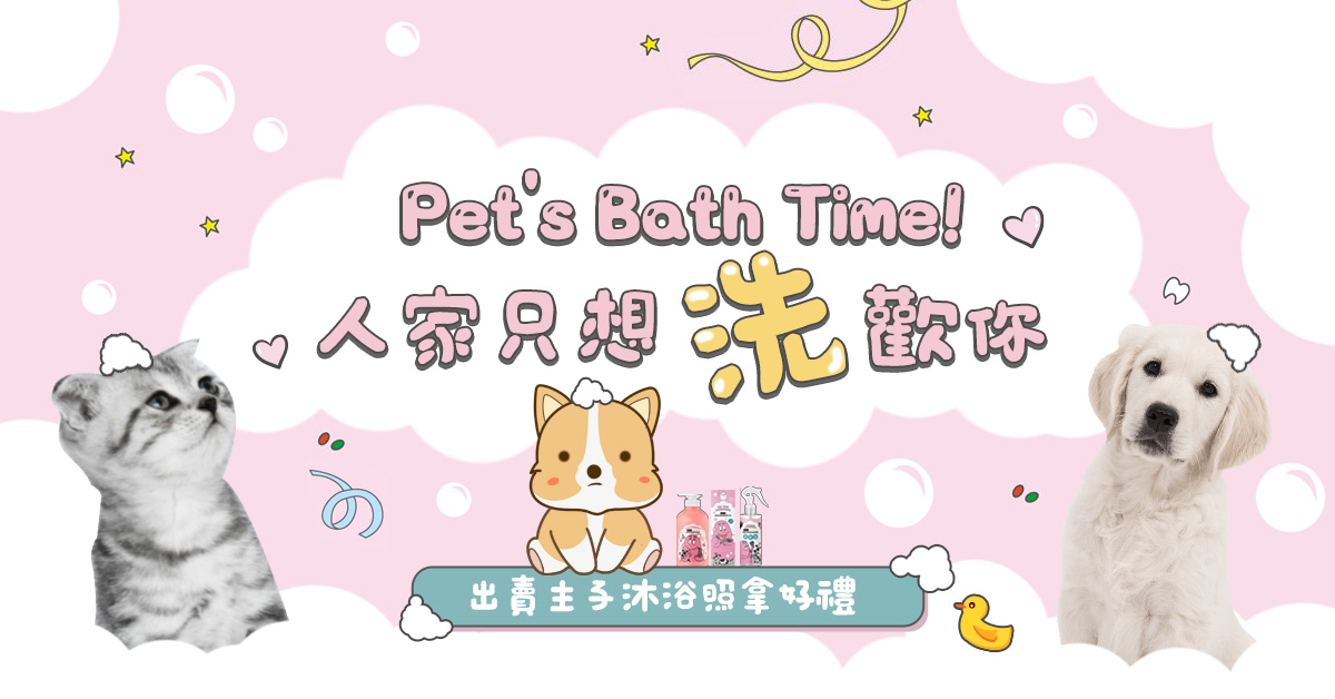 Pet's Bath Time!人家只想「洗」歡你!